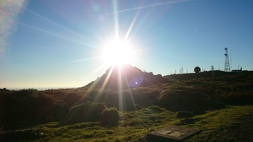 Sun Sunlight Lens Flare Sunbeam Nature Outdoors Sky Sunset Grass Tree No People Scenics Beauty In Nature Day