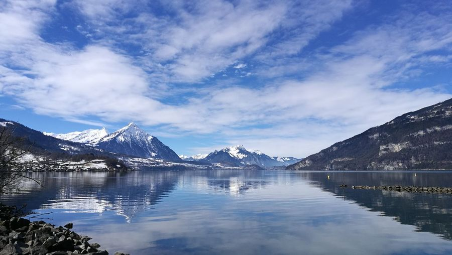 Interlaken Bernese Oberland Switzerland Eye4photography  EyeEm Selects Water Mountain Snow Lake Blue Reflection Sky Mountain Range Landscape Snowcapped Mountain