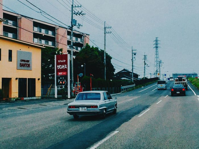 "// is it fine to caption it ""VINTAGE VIBES"" // Traveling On The Road Japan Japan Photography Tadaa Community The Changing City IPhoneography ShotOniPhone6 Vintage Cars Road Gangsters Paradise"