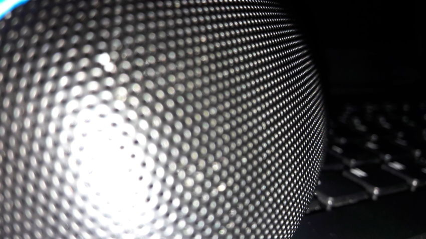 Pattern Close-up Textured  Abstract Indoors  No People Day Not Perfect Original No Filter Focus Technology I Can't Live Without Technology Samsung A3 2017 Bluetooth Bluetooth Speaker Blue Black Lautsprecher Tastatur Original Photo No Filters  No Edits No Filters