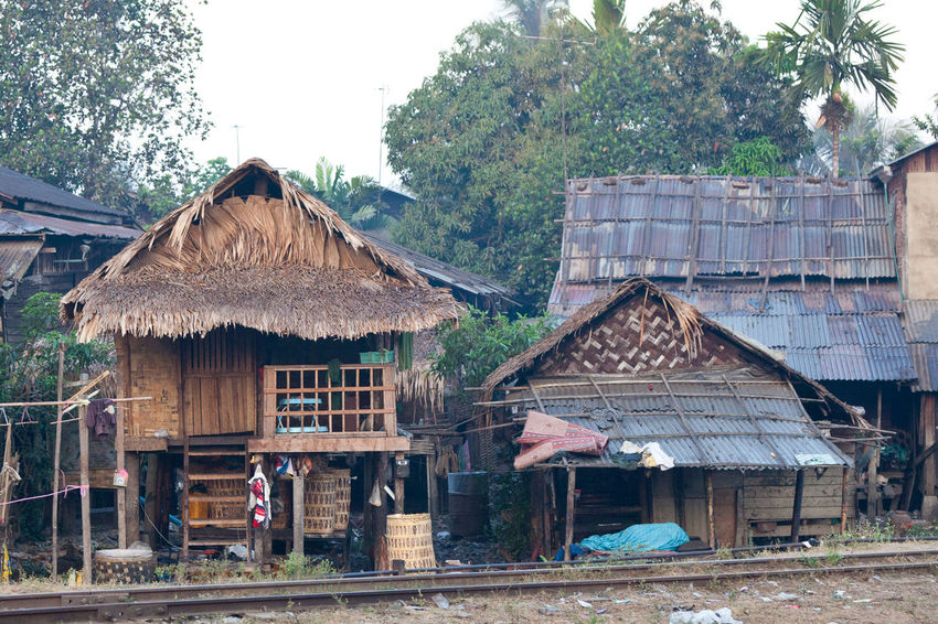 Architecture Birma Built Structure Burma Hut Myanmar Railroad Residential Building Residential Structure Shack
