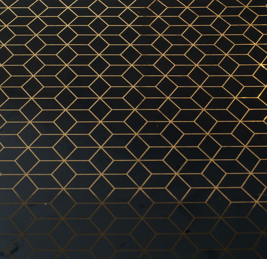 gold pattern in black background Pattern Full Frame Backgrounds No People Metal Close-up Repetition Textured  Indoors  Design Geometric Shape Shape Brown Abstract Grid Day Sunlight High Angle View Architecture