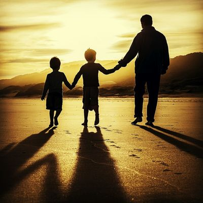 43 Golden Moments Father & Son Sunset Silhouette Fatherhood Moments