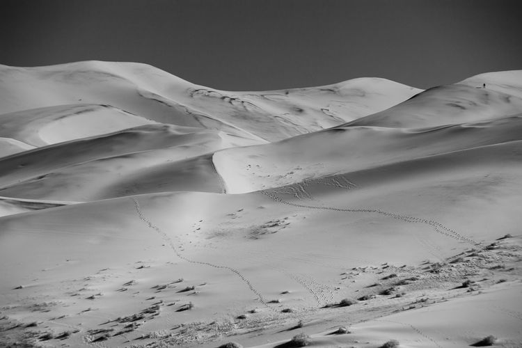 Beauty In Nature Black And White Death Valley National Park Desert Desert Beauty Eureka Sand Dunes Isolated Nature Remote Sand Dunes