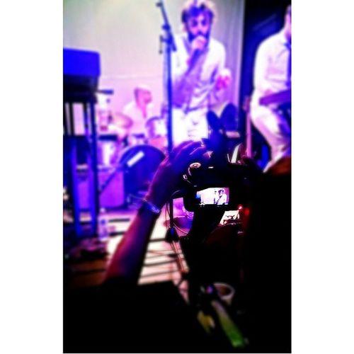 Arms filming Legs at last night's show. Wearelegs Youarelegs Legs Feellegs danceparty warmitup pop danceband legsmakesyoufeelthings brooklyn roughtrade nyc