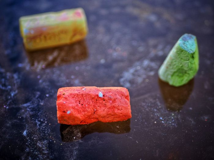 Cold Temperature Freshness Indoors  Red No People Close-up Day green Chalk - Art Equipment