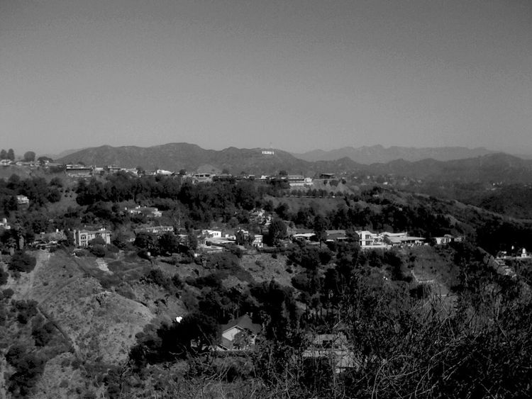 QVHoughPhoto Hollywood Losangeles Hollywoodsign Runyoncanyon Cityscapes Landscape Blackandwhite
