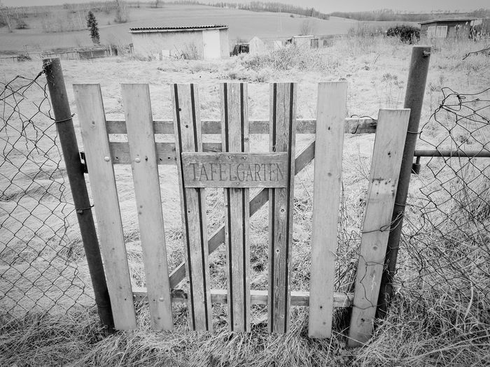 Metal No People Protection Day Outdoors Built Structure Text Fence Garden House Old Building  Wood Blackandwhite EyeEmNewHere