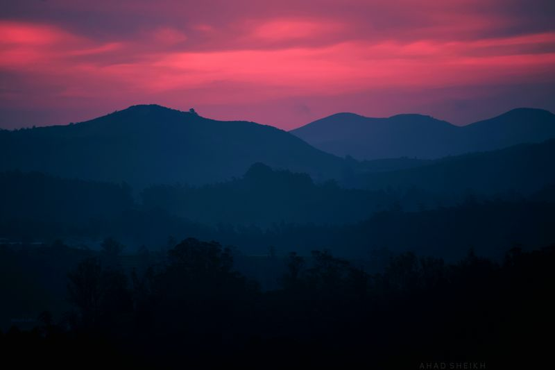 Mountain Landscape Blue Red Night Forest Mountain Range Dramatic Sky Natural Phenomenon Beauty In Nature Sky Scenics Outdoors Sunset Cloud - Sky Snow Tranquility Dramatic Sky Nature India Ooty Indiapictures Nature Photography Indianphotographer Incredibleindiaofficial EyeEmNewHere