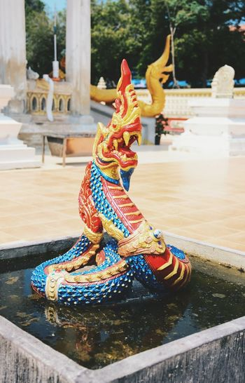 The colorful of the the Nagas in the Thai temple Religion Tradition Sculpture Worship Amazing Architecture Church Buildings Amazing Thailand Buddhism Amazing Exquisite Place Of Worship Temple Art And Craft Thailand Travel Thai Temple Colorful Travel Exquisite Beauty Architecture Statue Close-up Outdoors Nâgas Elégance Culture