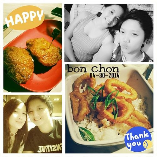 BonChon. We love it so much, we can't get enough. ? Best way to end my first month back on the job. ? 100happydays Vs100HappyDays BonchonPH Chickengoodness