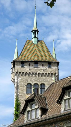 Landesmuseum Architectural Feature Architecture Built Structure Day History Landesmuseum Zürich Low Angle View Outdoors Schweiz Switzerland Tourism Zürich