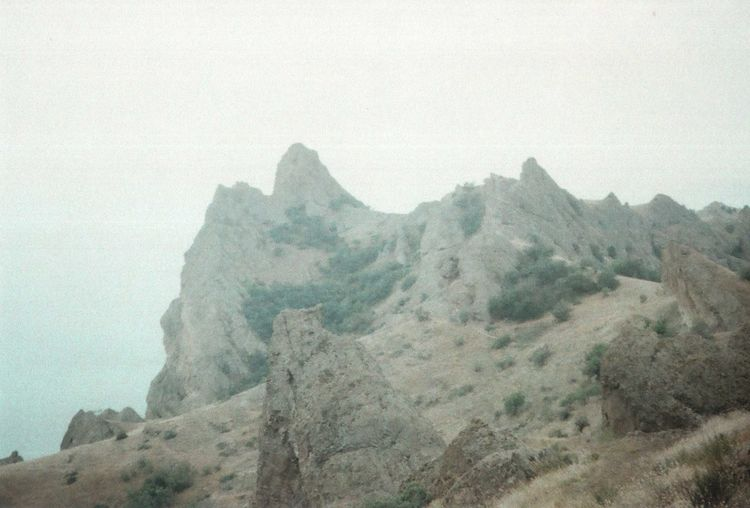 35mm Authentic Beauty In Nature Crimea Film Photography Geology Idyllic Landscape Majestic Mountain Mountains Nature Outdoors Rock Rocky Mountains Sea Travel Traveling Unusual Wild Wildness Zenit