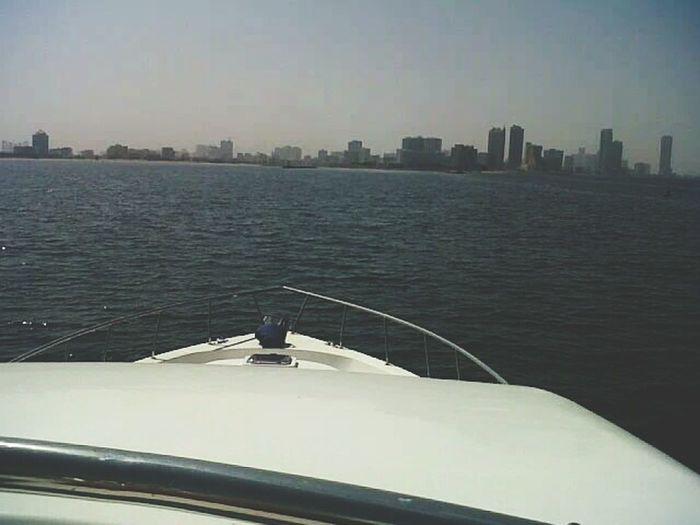 View from the top..⛅🌞🌊⛵ Sea 🌊💙 Yacht Lifeinuae Unitedarabemirates Sealife