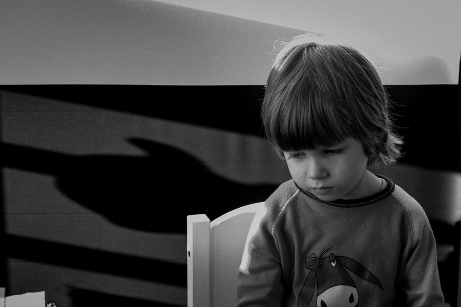 TCPM Childhood One Person Child Shadow Males  Indoors  People Close-up Mental Mentalhealth  Reflexions The Portraitist - 2017 EyeEm Awards Black And White Friday