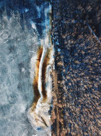 Almost spring☀️ Ice is melting💧Nature is waking up🌱 #realisbeautiful #beautifullithuania Winter Vertical Earth Beautifuldestinations Fromwhereidrone Lithuania DroneEye DJI Mavic Pro Dji Forest Water Nature One Person Wet Motion Full Frame Backgrounds