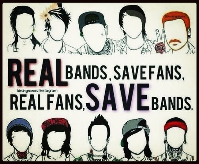 Bands Listening To Music These bands mean everything to me :3