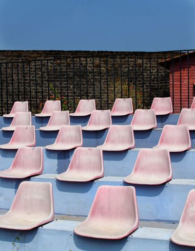 Blue Red Chair Pink Chair Chair EyeEm Best Shots The Week on EyeEm Chair Pattern Pattern Pieces Abstract Design Alignment Shadows & Lights Design Business Finance And Industry Business Outdoors No People Day Politics And Government Colour Your Horizn