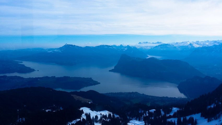 Lucerne Pilatus Mt. Alps Switzerland Beauty In Nature Cloud - Sky Cold Temperature Day Fog Landscape Mountain Mountain Range Nature No People Outdoors Scenics Sky Snow Tranquil Scene Tranquility Weather Winter