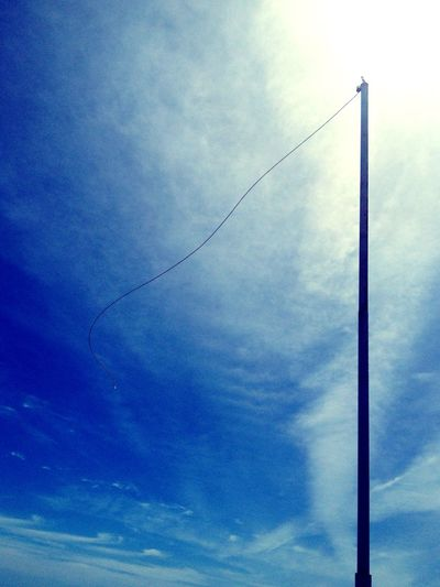 Where's the icecream flag !? Taking Photos Blue Clouds And Sky Flag Misssomething Spring Sun Wind Relaxing Lookup