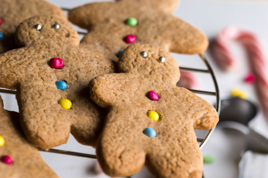 Gingerbread Men Baked Baking Biscuits Candy Christmas Close-up Cookie Food Food And Drink Gingerbread Gingerbread Man Gingerbread Men Multi Colored Sweet