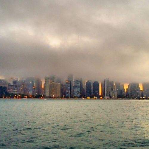 Fog Foggy Photography Lake Michigan Sears Tower Willistower Skyline Chicago ♥