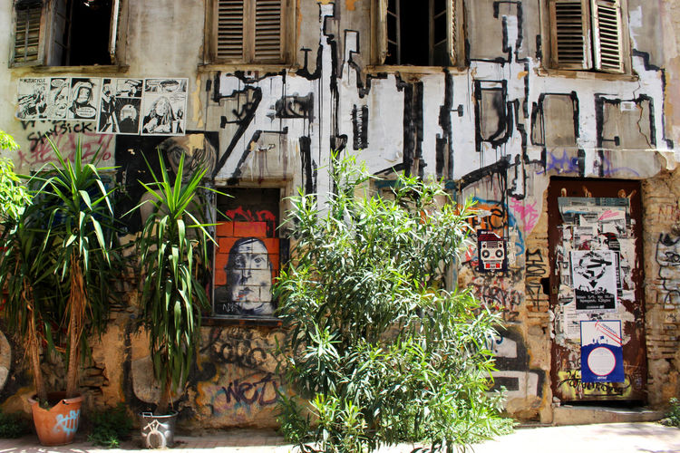 Architecture Athens Athens, Greece Building Building Exterior Built Structure Day Front Door Graffiti Greece Multi Colored No People Street Art Street Art/Graffiti Streetart Streetphotography Urban Urbanphotography