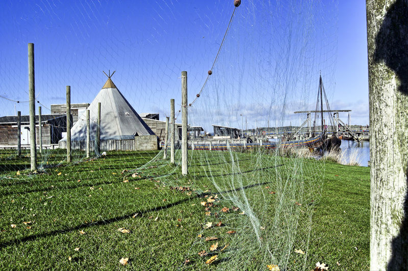 fishing nets Architecture Built Structure Day Drying Fishing Net Drying Net Drying Nets Fishing Net Fishing Nets Grass Nature Net Nets Nets Camp Nets Field No People Outdoors Sky Tree