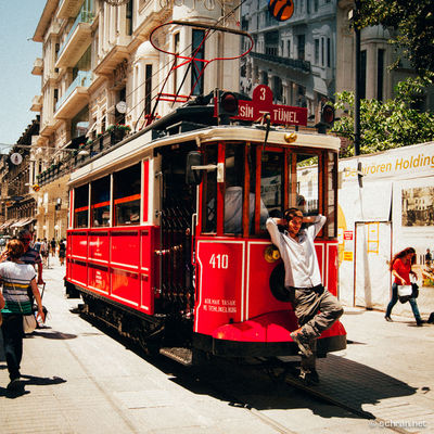 A #random finding from the library. #blindpassenger relaxing on a #tram near #taksim plaza in #istanbul. #agfa #vista100 Cable Car City Life City Street Cool Istanbul Lifestyles Mode Of Transport On The Move Public Transportation Street Taksim Tram Tramway Transportation Urban