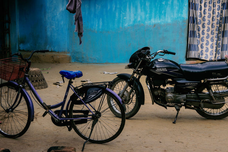 Jharkhand, India Village India Jharkhand Nature Landscape People Colors Silent Moment Silent Pure Life Pure Beauty Transportation Mode Of Transportation Bicycle Land Vehicle Stationary Architecture Built Structure Parking Outdoors Day