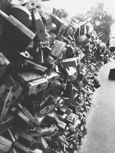 B R O K E N H E A R T S Large Group Of Objects Abundance Day No People Outdoors Close-up Locks Locks Of Love Love Paris