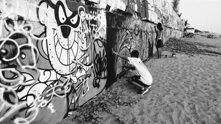 Bali INDONESIA Travel Photography World Travel Graffiti Wall Graffiti Fujifilm X-t20 Gradient Black And White Photography Defiant Art Surf Culture Beach Culture Culture Underground Scene Local Scene EyeEm Gallery Cartoons