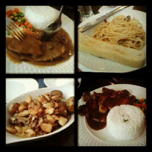 late lunch :) Clovesgarlicchicken Roastbeef Porkchop Mushroompasta
