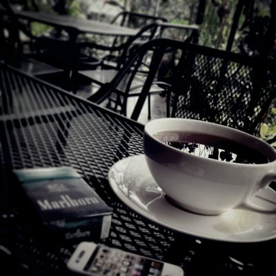 Coffee And Cigarettes Relaxing Perfect Afternoon