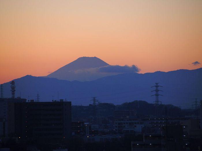 The first twilight in 2017. Twilight Mt.Fuji 2017 New Year