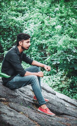Yogesh Mandowra - Abshine photography #abshine_photography #canon #canon1200d Abshine_photography Canon Canon1200d Full Length Sitting Men Wireless Technology Technology Student Handsome Beautiful People Happiness Relaxation Hiking Explorer
