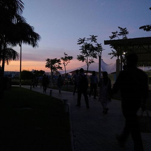 Leaving office Office Chennai Tcs SIRUSERI Evening Sunset Sky Colorfulevening Colorful