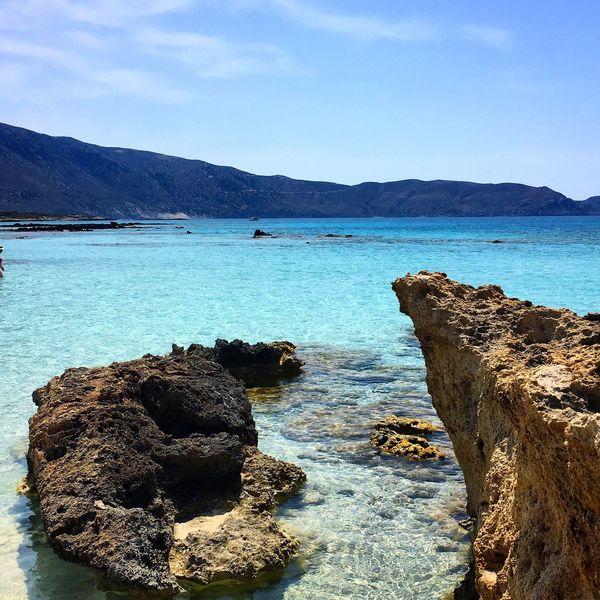 Crete Crete Greece Elafonisos Elafonisi Elafonissi Meditterranean Mediterranean  Sea Tirkiz Rocks And Water IPhoneography IPhone IPhone 6s