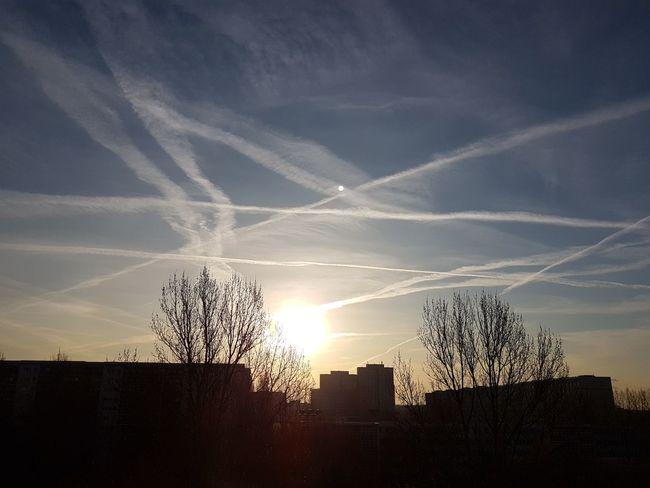 Sky No People Cloud - Sky Sun Nature Clouds Sunny Berlin Nofilter Photo