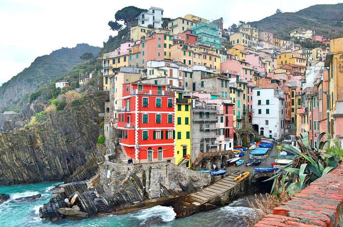 Architecture Building Cinqueterre Colorful Colors Italy La Spezia Laspezia Riomaggiore Sea
