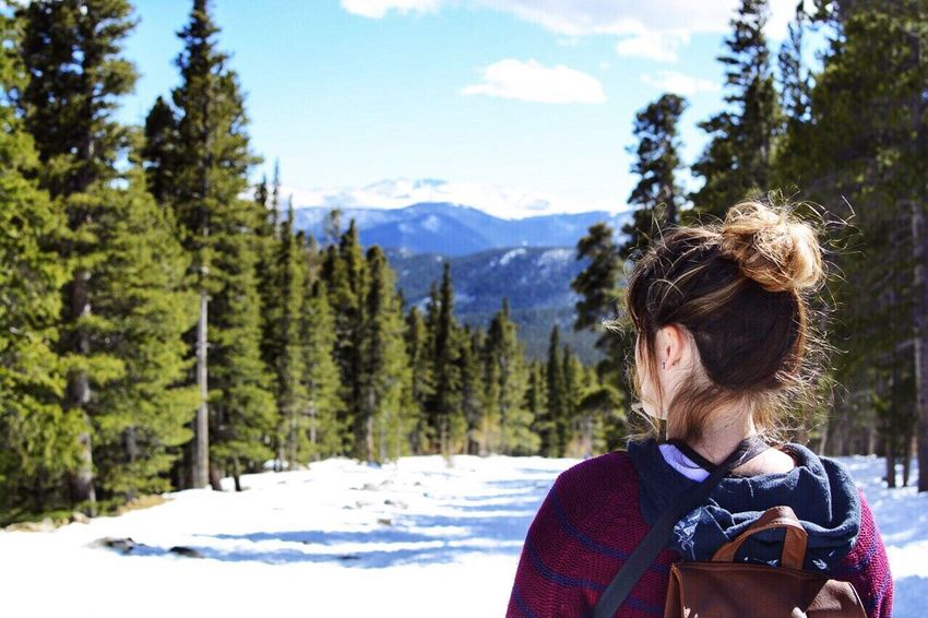 Hike Mountains Colorado Snow Outdoors Adventure Explore