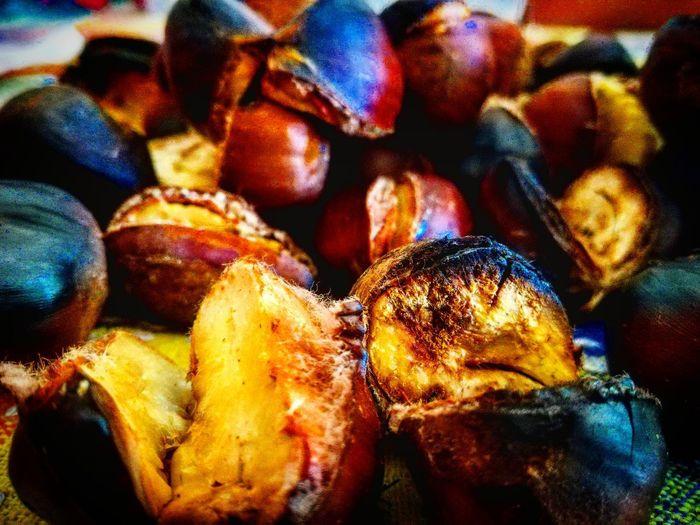 Profumi D'autunno Castagne Castagna Profumi D'autunno Frutti Di Stagione Fruttadistagione Full Frame Close-up Food And Drink