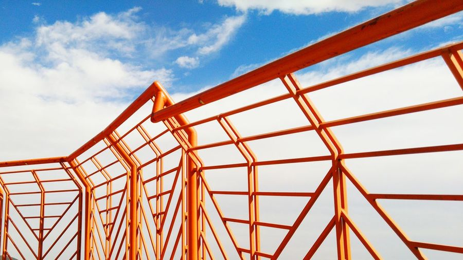 Minimalist Architecture Orange Bright Colorful Architecture Lines And Shapes Design