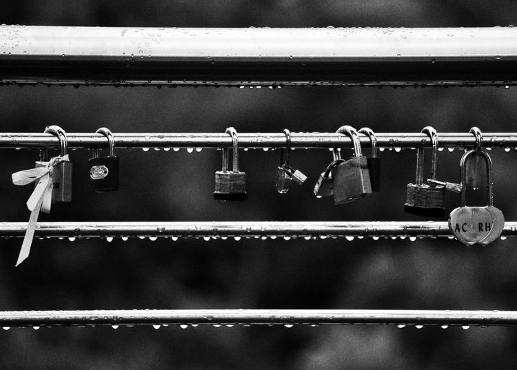 Love lockets Love ♥ Locks Locket_of_love Padlocks Blackandwhite Photography Black And White Blackandwhite Streetphotography