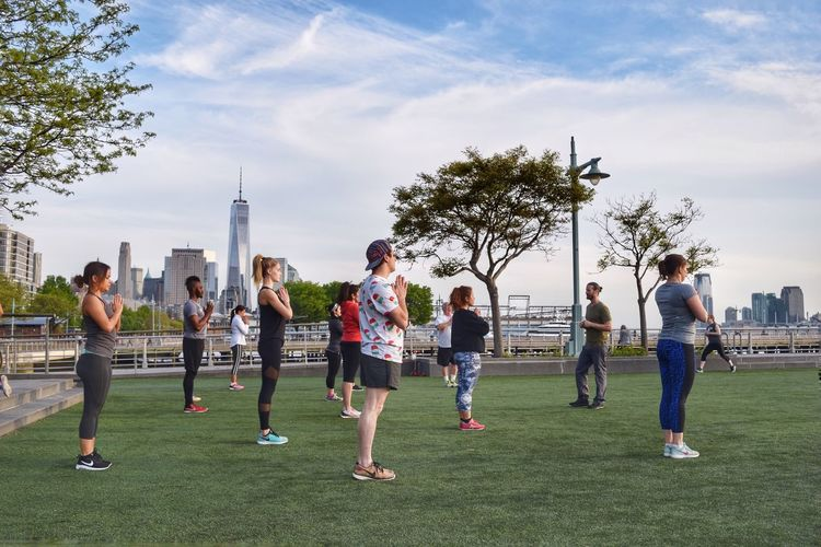 The Great Outdoors - 2016 EyeEm Awards NYC Photography My View NYC Places I've Been Enjoying The Sights Enjoying Time Capture The Moment Enjoying The Moment Nikon D3300 Nikond3300 Hudson River Park Hudson River Park Freedomtower Working Out Exercising Exercise Getting In Shape Today's Hot Look
