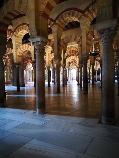 Architectural Column Architecture Arch Indoors  No People Built Structure Corridor Day