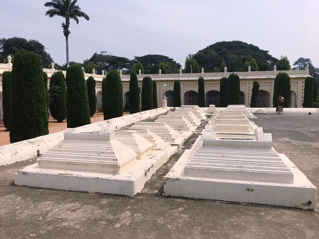 Tipu sultan's family grave yard Cemetery Memorial Tombstone Sunlight The Past Outdoors Travel Destinations Grave War Memorial Sky Clear Sky Tree No People Day