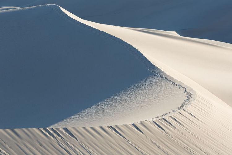 High angle view of sand dune