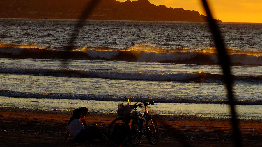 Love is in the beach Sun Set EyeEm Nature Lover Beach Photography I Love Bikes