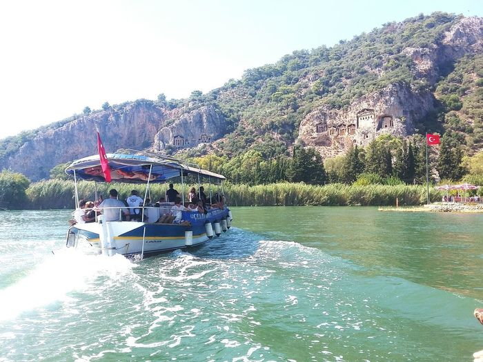 Kralkayamezarları Water Nautical Vessel Vacations Outdoors Day Nature Tree Lake Sunlight People Large Group Of People Women Mountain Summer Adult Sailing Sky Adults Only Only Women Clear Sky Dalyan/Marmaris Beauty In Nature Sunlight ☀ Greenwater
